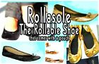 Rollasole Rollable Ballet Flats in Black or Gold Sz 5-9