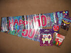 50th birthday packs age 50 banners ballons confetti etc