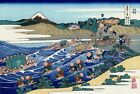 "Fuji from Kanaya on Tokaido by Hokusai 24""x36"" Japanese Art on Canvas"