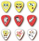 6 SPONGEBOB SQUAREPANTS GUITAR PICKS Medium Gauge
