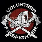 VOLUNTEER FIRE FIGHTER T SHIRT MEN'S