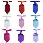 Italian Satin Wedding Scrunch Cravat Ruche Tie 9 colour