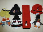 Внешний вид - Janie and Jack Boys WINTER Red Penguin Hat Black Dog NWT 2T 3T 6-12 Baby