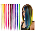 "New 24"" Colored Colorful Clip On In Hair Extension Hot"