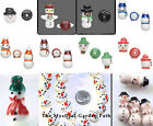 Lampwork Glass Snowman Beads Snow  Christmas * Many Styles Available