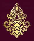 LARGE WALL DAMASK STENCIL PATTERN FAUX MURAL  #1019