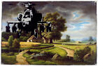 "Banksy- Helicopter over Village Graffiti  24""x36"" Print on Canvas"