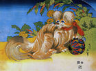 "Tschin - the pet dog by Katsushika Hokusai  - 20""x26"" Japanese Art canvas"