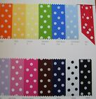 Luxury Polka Dot Patterned Satin Berisford Ribbon 10mm 15mm 25mm Craft Cake Card