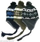 CHILDRENS BOYS GIRLS WINTER WARM FLEECE LINED PERUVIAN PERU INCA STYLE SKI HAT