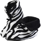 Ladies Slipper Bootees /Animal Print/Black & White/ £5 CRAZY PRICE
