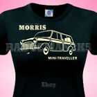 Classic MORRIS ** Mini ** TRAVELLER - WOODIE - LADIES  T SHIRT Perfect 4 Rallies