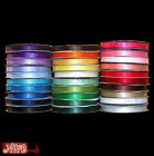6MM x 10 METRES DOUBLE SIDED HIGH QUALITY SATIN RIBBON, ASSORTED COLOURS