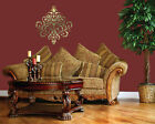 WALL DECOR DAMASK DECAL STICKER #1106 (Choose Size and Color)