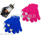CHILDRENS BOYS GIRLS TOUCHSCREEN SMART WARM GLOVES FOR APPLE IPHONE IPAD MOBILE