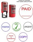 PAID, POSTED, CHECKED ETC SELF INKING RUBBER WORD STAMP 46019. ACCOUNTS OFFICE
