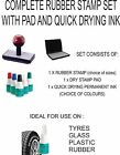 PERSONALISED RUBBER STAMP & DRY PAD & QUICK DRY INK, BUSINESS,OFFICE,GARAGE etc