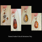 BALTIC INLAID GREEN AMBER & STERLING SILVER HANDMADE EURO-HOOK EARRINGS
