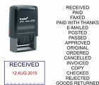 DATE STAMP, PAID, RECEIVED, POSTED, FAXED CHECKED TRODAT 4750 SELF INKING RUBBER
