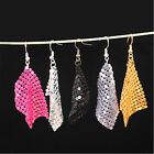 Chain mail dangle earrings multiple colours