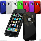 NEW WAVE GEL SILICONE CASE COVER FITS APPLE IPHONE 3 3G FREE SCREEN PROTECTOR