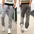 New Mens Casual Fashion Slim Fit Pants Rope Sports Dance Trousers S-XXL 4 Colors