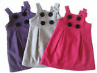NEW Girls A Shape Dress Winter Overall Wool sz 2-7 in Purple - Hot Pink - Grey