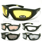CHOPPERS BIKER WRAP GOGGLE Sunglasses FOAM PADDED LINING Soft Matt BLACK