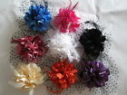 Wedding Feather Bead String Hair Fascinator Clip Brooch Lady Corsage Fascinators