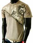 NEW MENS WASHED VINTAGE TRIBAL ROCK CASUAL GRAPHIC SURFER T-SHIRT
