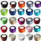 "1 Roll 25 Yards 2"" 50mm Satin Ribbon Sash Bow Craft Wedding Decor Colors U Pick"