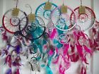 "DREAM CATCHER - RED, BLACK, PINK, GREEN, PURPLE - SILVER DECORATION  6.5"" DIA"