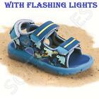 BOYS SUMMER SANDALS KIDS INFANTS WALKING VELCRO FLASHING LIGHTS BEACH SHOES SIZE