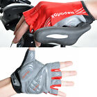 Red Cycling Bike High Elastic Bicycle Wearable Sports Half Finger Glove M/L/XL