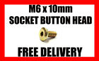 M6 x 10mm SOCKET BUTTON HEX BOLT ALLEN HEAD BOLTS GOLD ZINC VARIOUS QUANTITY