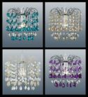 ACRYLIC CRYSTAL CEILING PENDANT SHADE - CLEAR, BLUE, CREAM, PURPLE, CHAMPAGNE