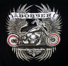 BOBBER MOTORCYCLE RIDER BIKER LONG SLEEVE T SHIRT M TO 4X BLACK OR GRAY