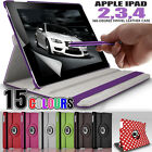 Rotating Stand Folding Swivel Case Flip Wallet Cover for Apple iPad 4 3 2