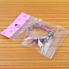 Hot onsale 500x Pink Clear Self Adhesive Seal Plastic Jewelry Bags Size Choose
