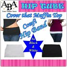 Cover the Muffin Top with NEW Hip Band, Black & White, S to XXL, waist trimmer