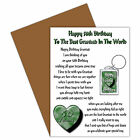 HAPPY BIRTHDAY GRANDAD AGES 35 TO 80 CARD & KEYRING GIFT VERSE FROM A CHILD