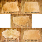 NEW SOFT FLUFFY  PLAIN WASHABLE BEIGE COLOUR FAKE FAUX FUR SHEEP SKIN RUG