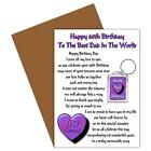 HAPPY BIRTHDAY DAD AGES 30 TO 100 CARD & KEYRING GIFT