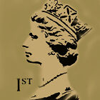 Queen Elizabeth Stamp Stencil Reusable Wall Decor Craft Art Painting