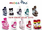 MOCC ONS  SLIPPER SOCKS SHOES, DRIBBLE ONS, SOCK ONS,NEW, JULIE ANNS