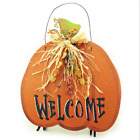 American Made Hand Painted Pumpkin Welcome or Plain Wooden Sign or Door Hanger
