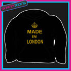 KEEP CALM MADE IN LONDON HOODY HOODIE ALL SIZES & COLOURS