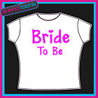 HEN NIGHT PARTY TOP TSHIRT BRIDE TO BE WEDDING  PERSONALISED FRONT & BACK