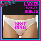 LADIES KNICKERS BRIEFS PERSONALISED LADS STAG PARTY BEST MAN FUNNY GIFT