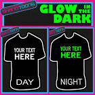 PERSONALISED GLOW IN THE DARK TSHIRT HEN NIGHT PARTY GIRLS HOLIDAY OWN DESIGN